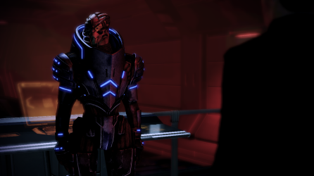 Garrus just doing his calibrating. Is there something he isn't telling us?