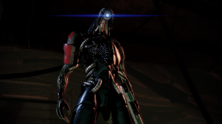 Legion, another excellent addition to Mass Effect 2. Too bad you get him so late in the game.