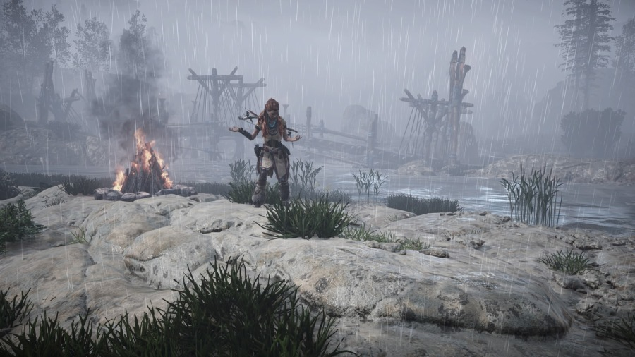 Horizon Zero Dawn Enjoying The Rain.jpg