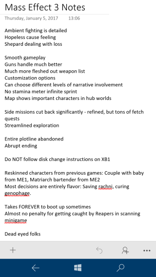 Mass Effect 3 Review Notes