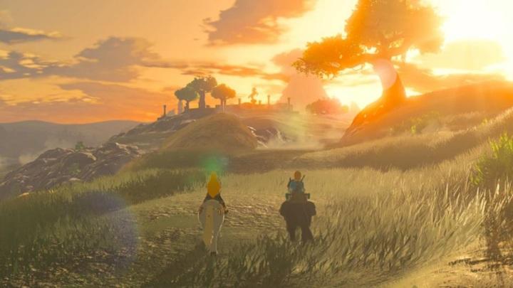 The Legend of Zelda Breath of the Wild Sunset