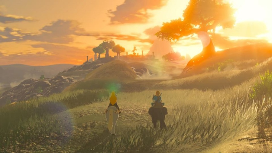 The Legend of Zelda Breath of the Wild Sunset